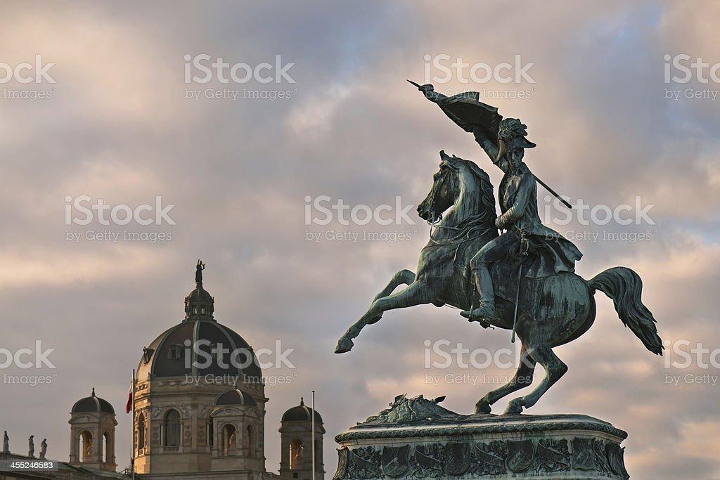 Erzherzog Karl Reiterdenkmal, Heldenplatz, Wien stock photo