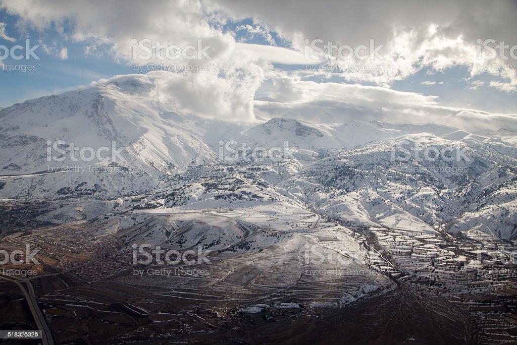 Erzincan City Aerial View stock photo