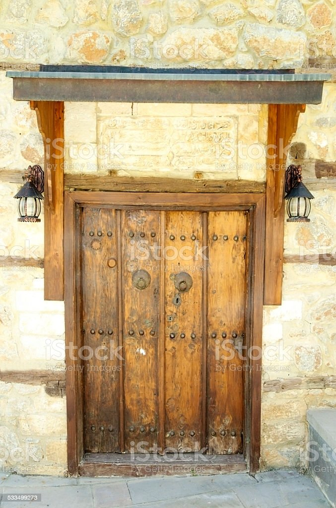 Erzincan Kemaliye doorknob stock photo