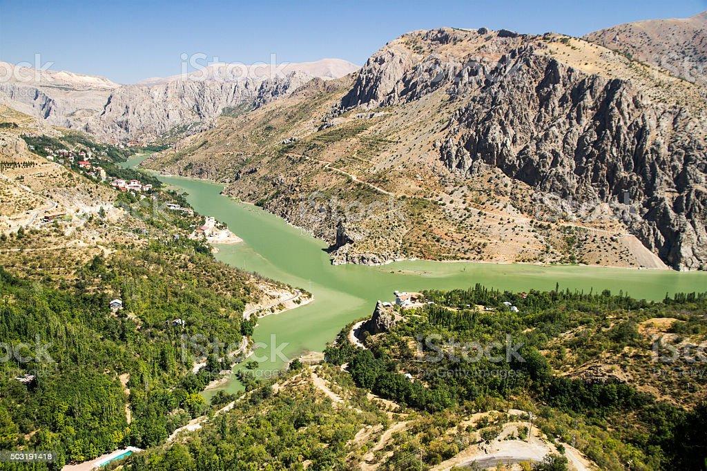 Erzincan Kemaliye Fırat Nehri Munzur Dağları stock photo