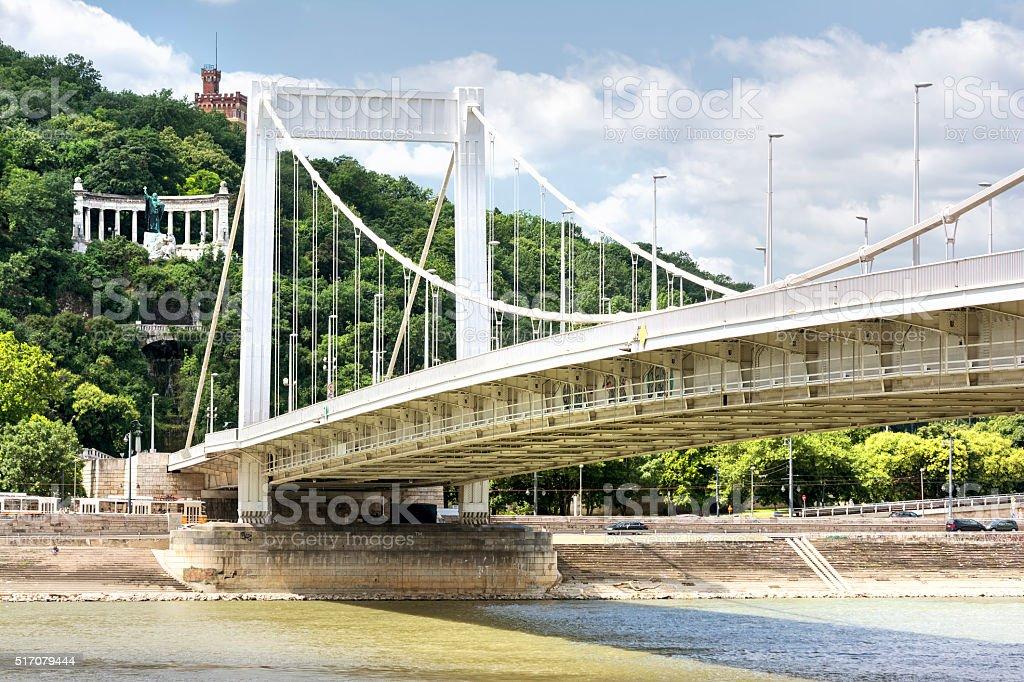 Erzsebet Bridge, Budapest, Hungary stock photo