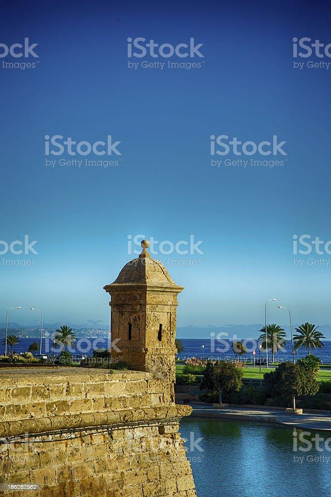 Es Baluard Fortress in Palma de Mallorca stock photo