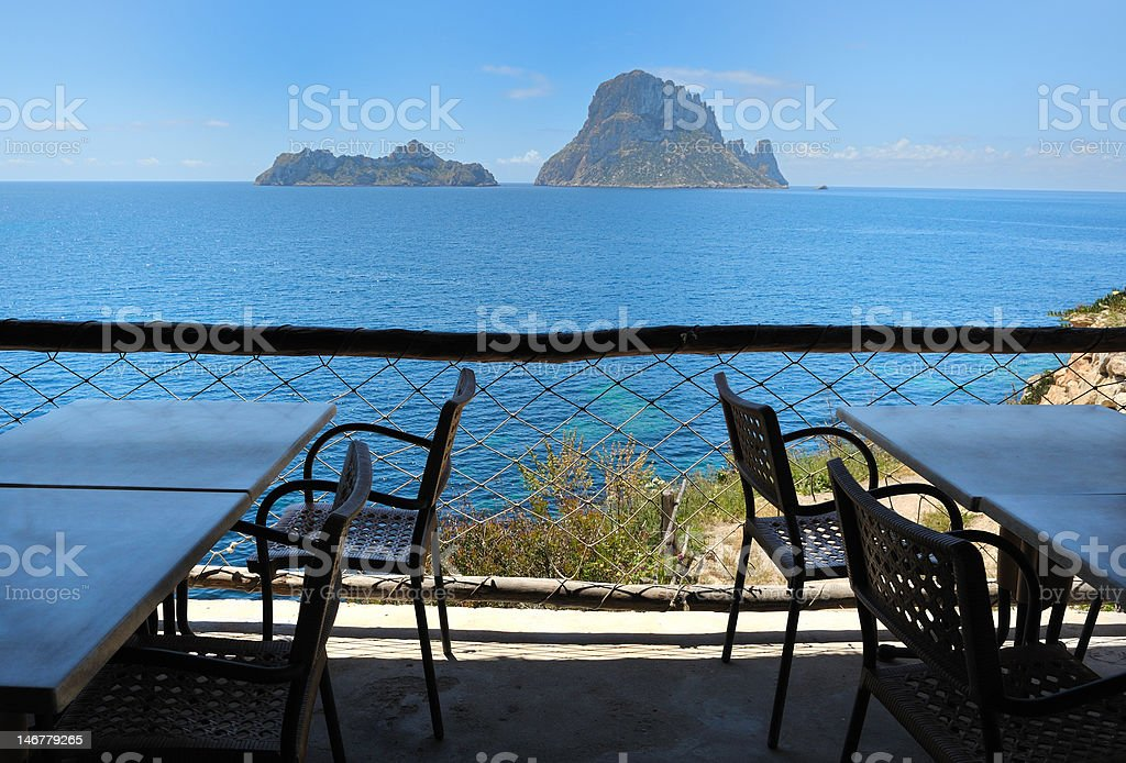 Es Vedra Cala d'Hort, Ibiza Spain royalty-free stock photo
