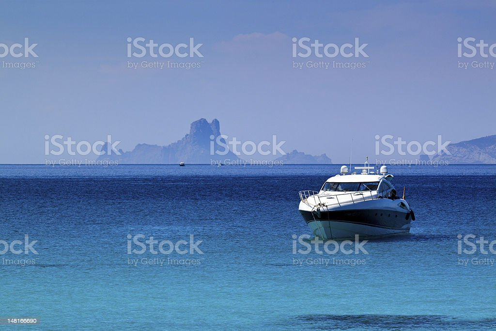 Es Vedra Island in Ibiza stock photo