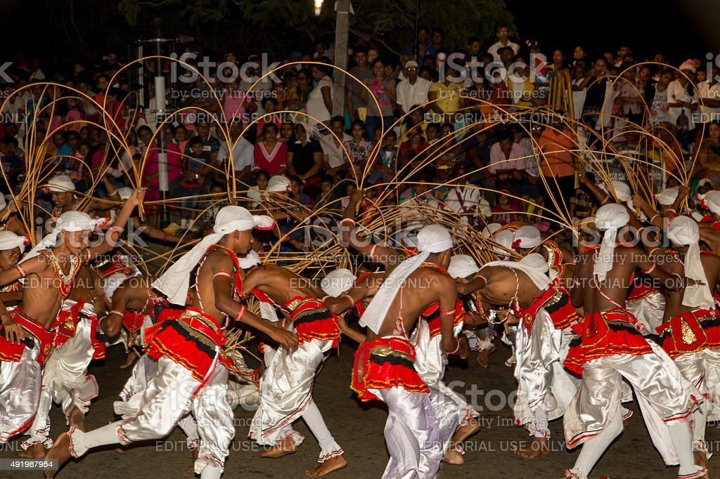Esala Perahera: the buddhist festival in Kandy, Sri Lanka, 2015. stock photo