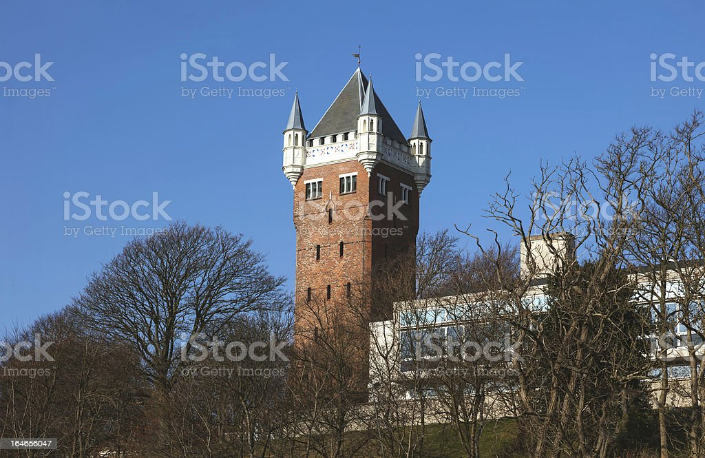 Esbjerg, Denmark. The old water tower. stock photo