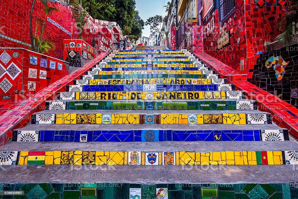 Escadaria Selaron, Rio de Janeiro, Brazil stock photo