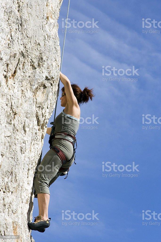Escalade en falaise royalty-free stock photo