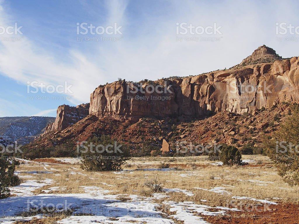 Escalante Canyon, Western Colorado in Winter stock photo