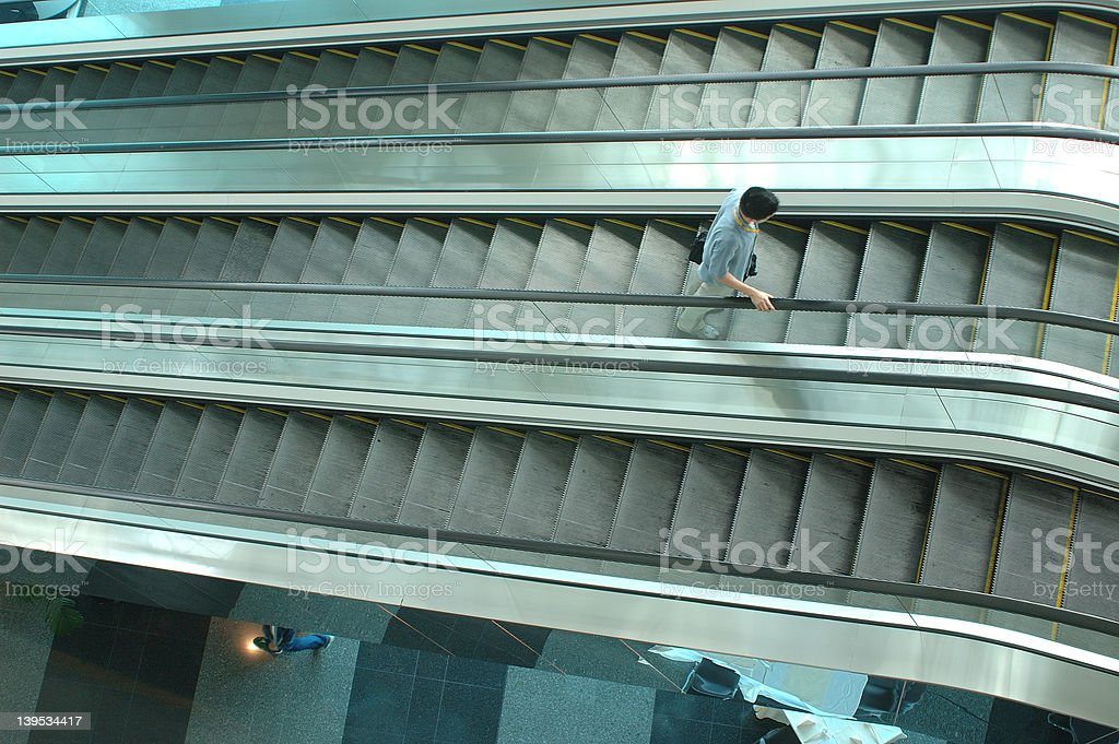 escalator 2 - a series royalty-free stock photo