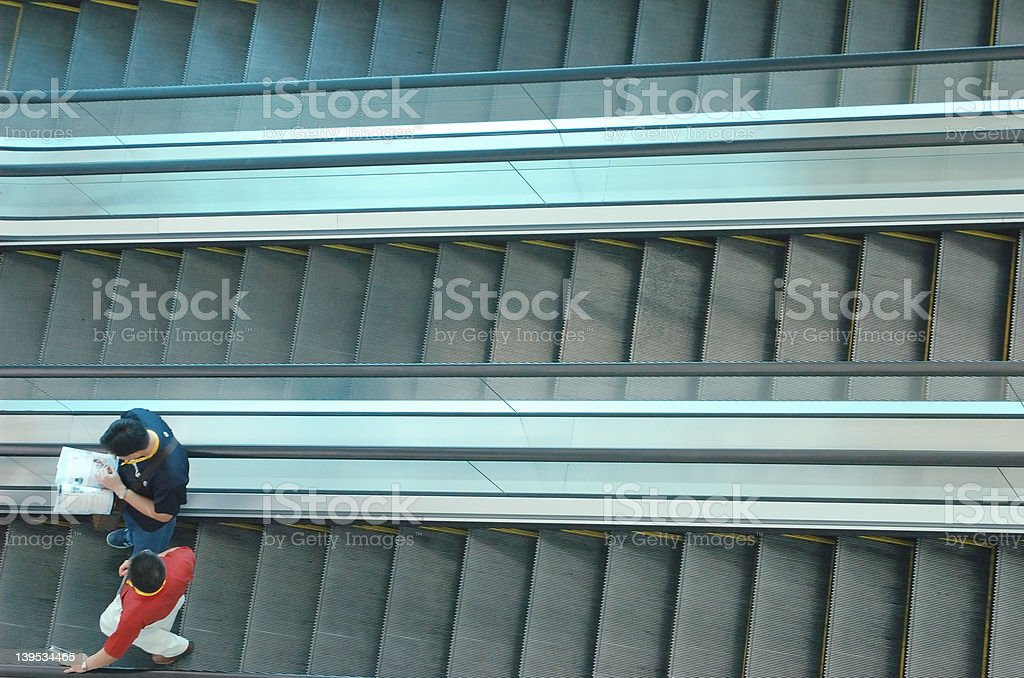 escalator 3 - a series royalty-free stock photo
