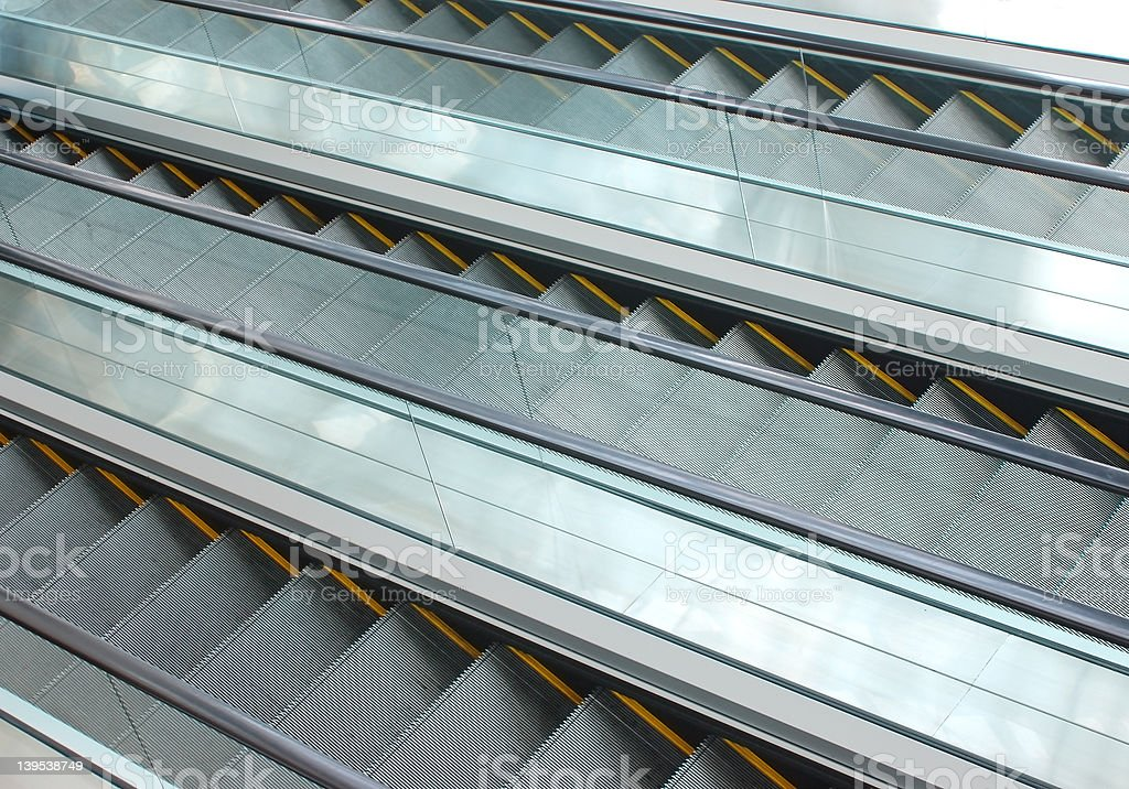escalator - a series royalty-free stock photo