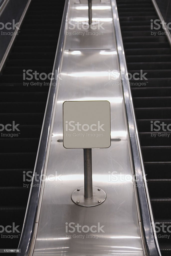 escalator and copy space royalty-free stock photo