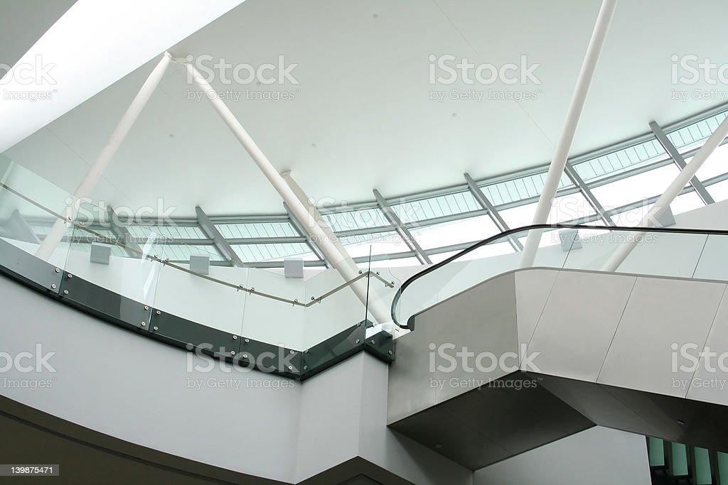 Escalator and Skylight royalty-free stock photo