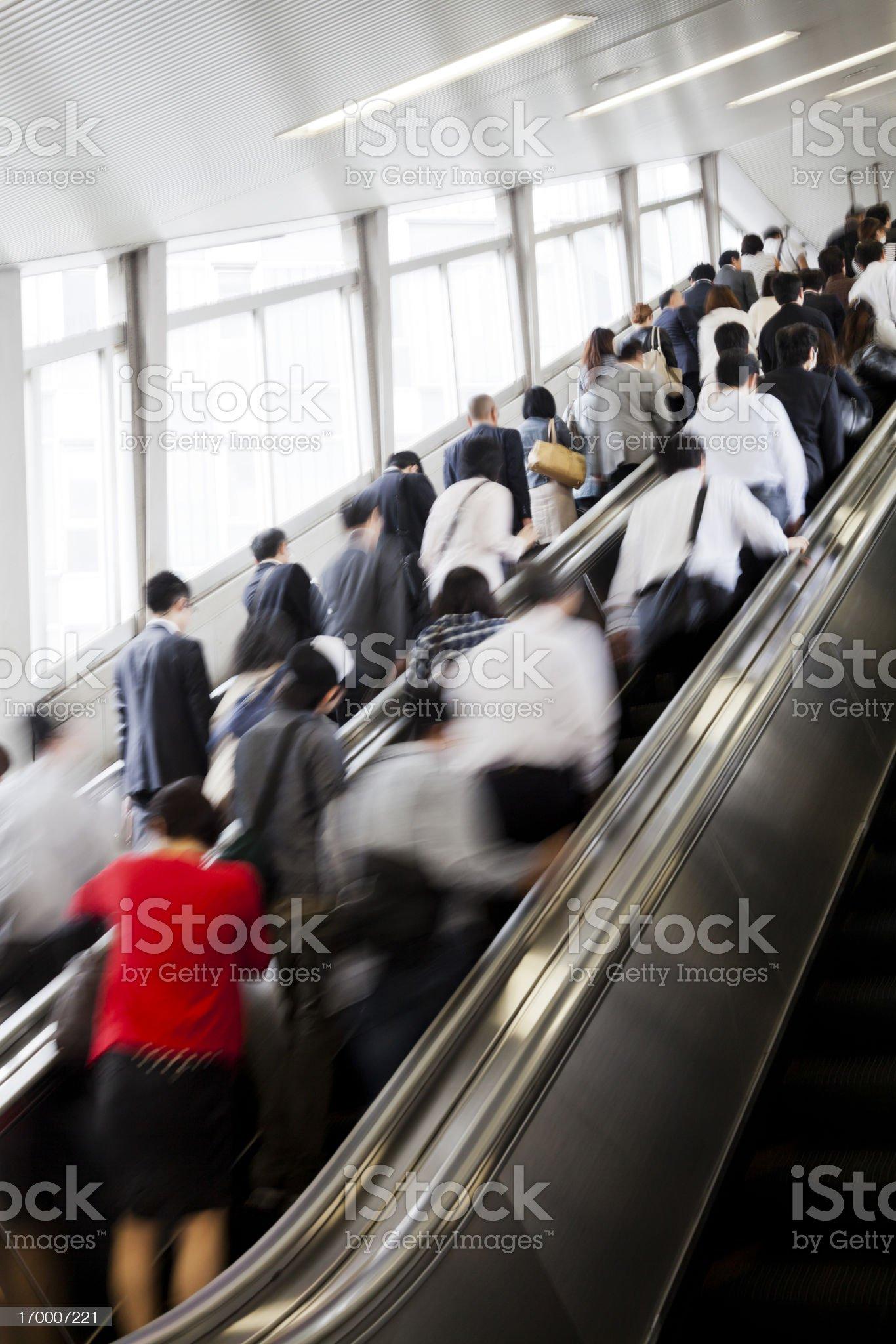 Escalator Commuters royalty-free stock photo