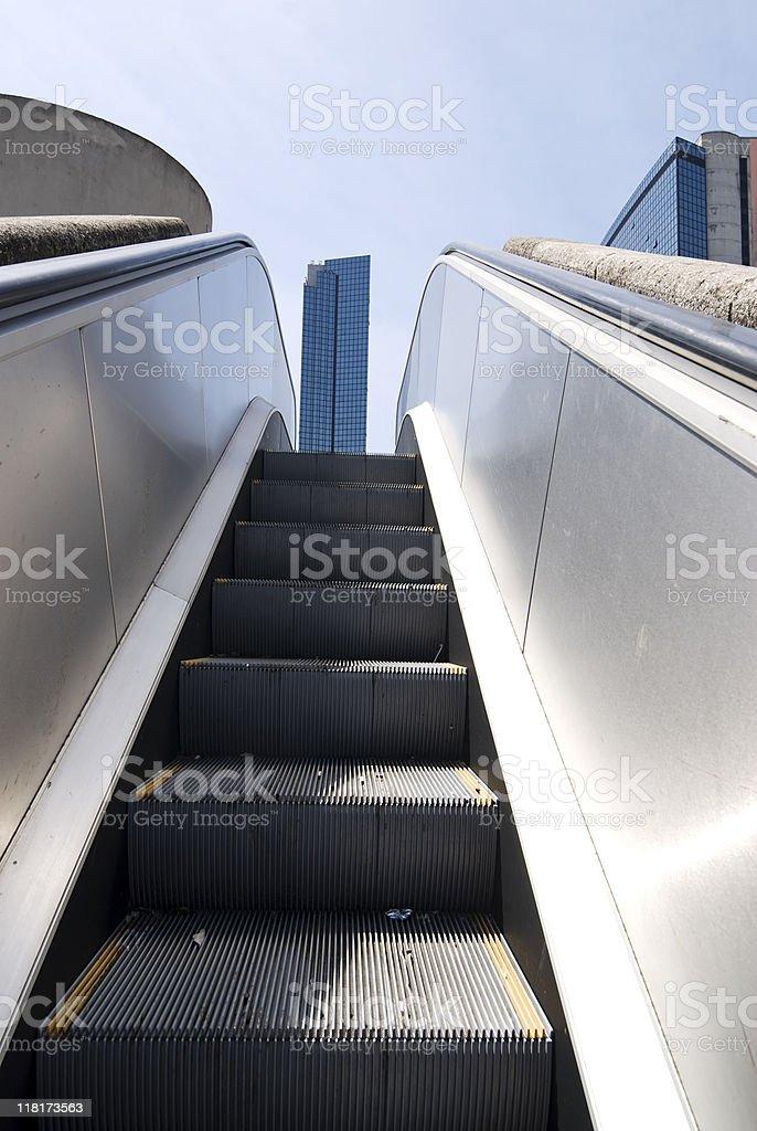 escalator for a skyscraper royalty-free stock photo