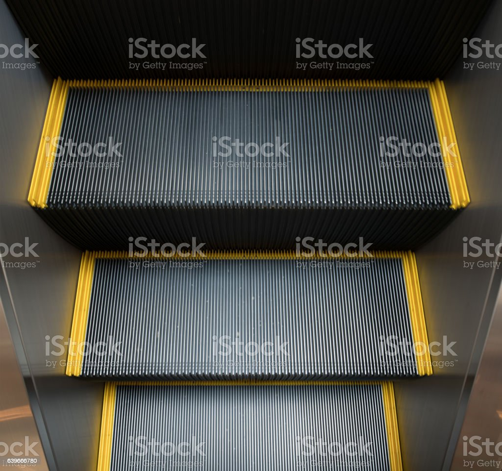 escalator from high Angle view stock photo