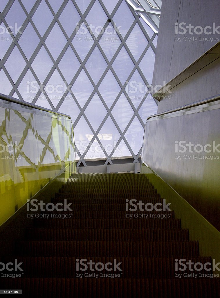 Escalator Going Up 2 royalty-free stock photo