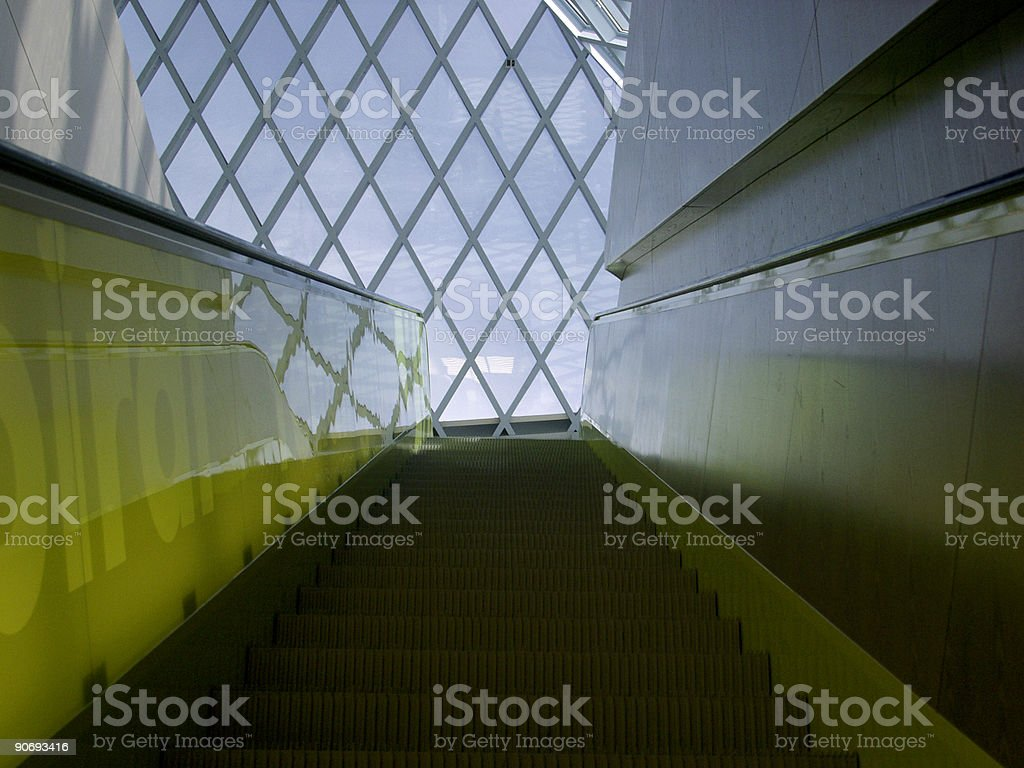 Escalator Going Up royalty-free stock photo