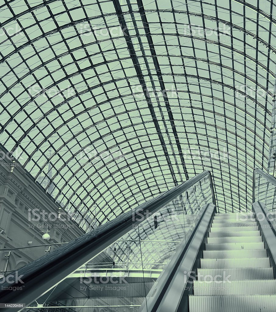 escalator in a shopping mall royalty-free stock photo