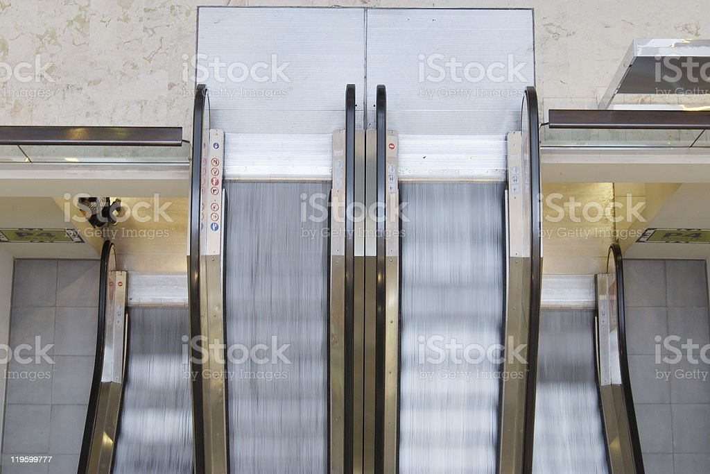 Escalator in department store. Nice. Provence. France royalty-free stock photo
