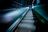 escalator in Hong Kong downtown district