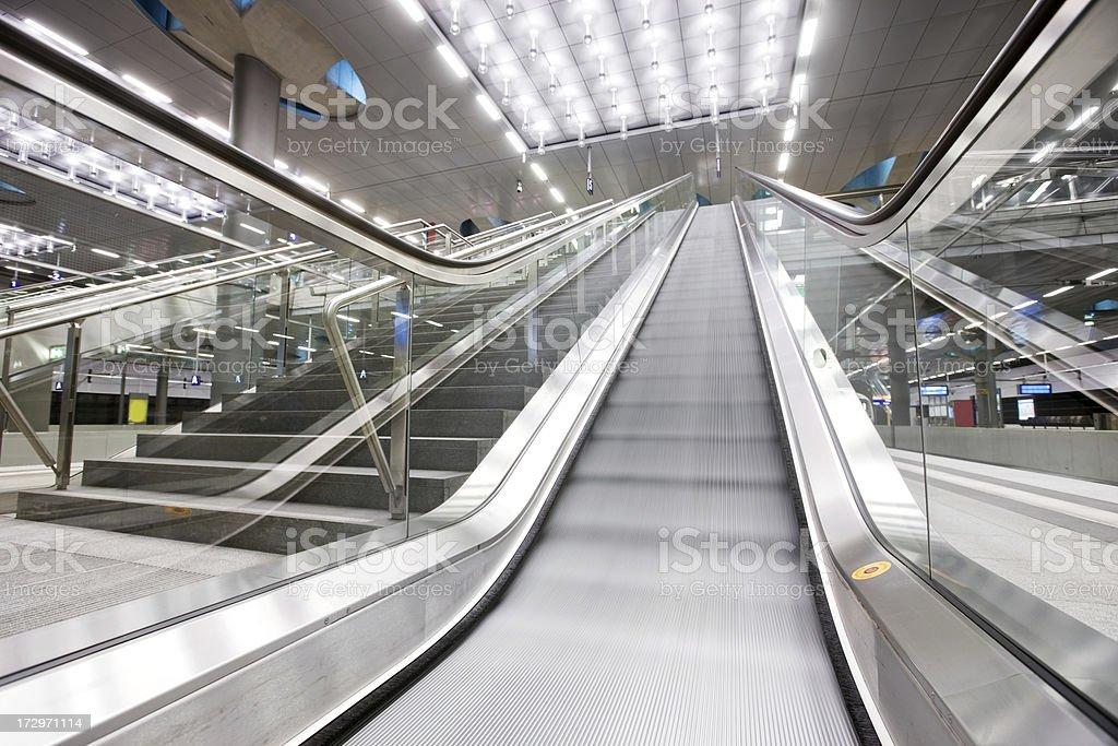 escalator in motion royalty-free stock photo