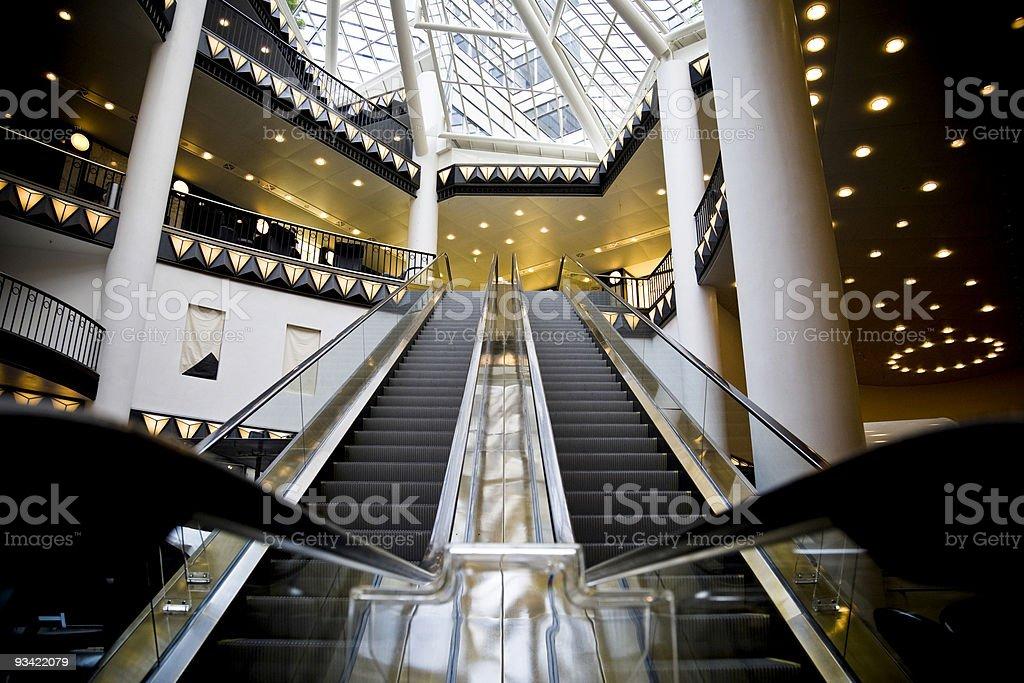 escalator in shopping mall royalty-free stock photo