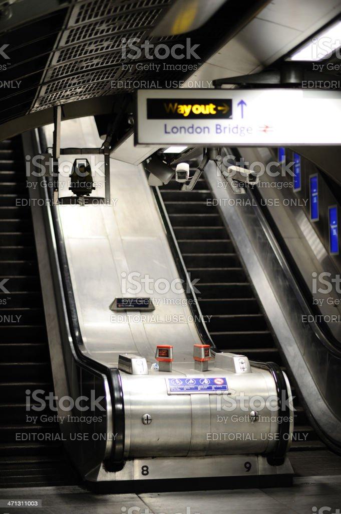 Escalator in Underground Station royalty-free stock photo
