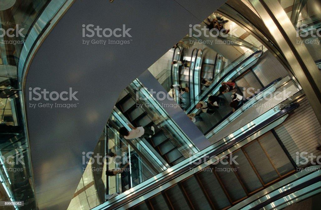 Escalator labyrinth royalty-free stock photo