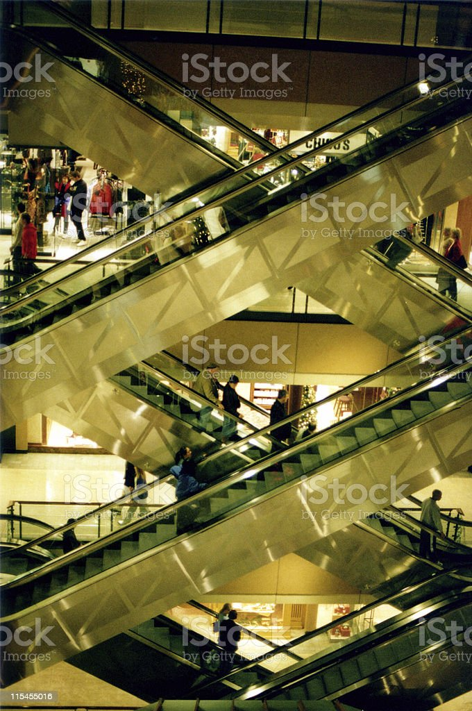 Escalator Madness royalty-free stock photo