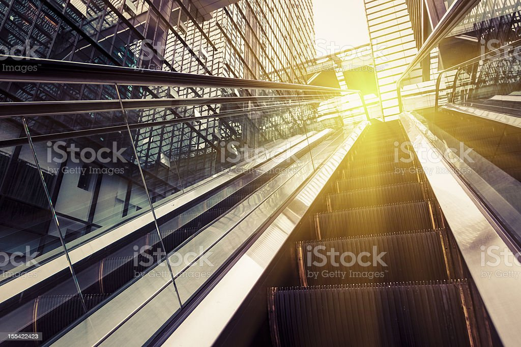 escalator of shopping mall royalty-free stock photo