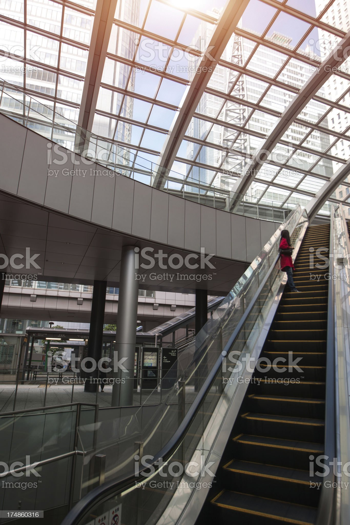 escalator royalty-free stock photo