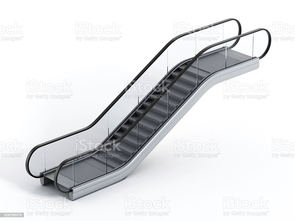 Escalator stock photo