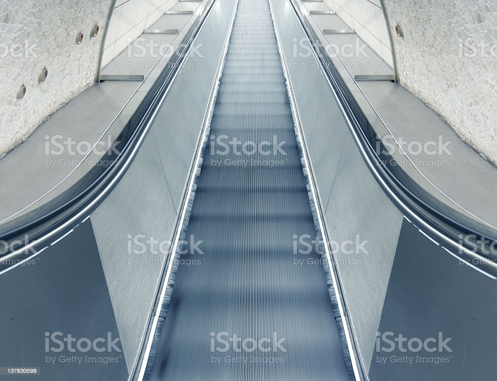 Escalator Running Up stock photo