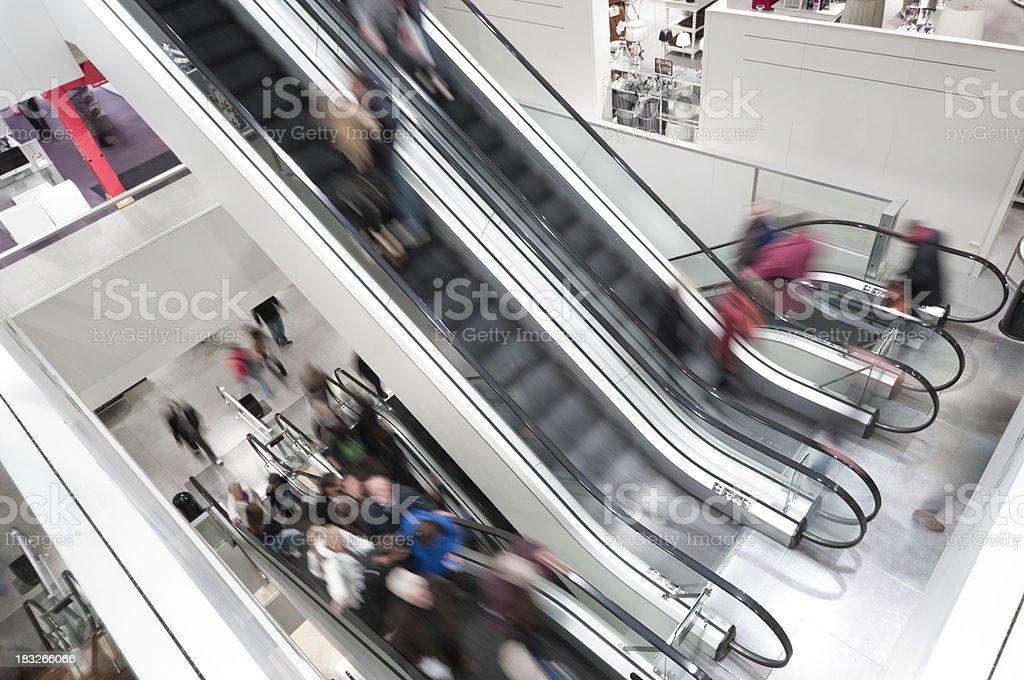 Escalator shopping mall royalty-free stock photo