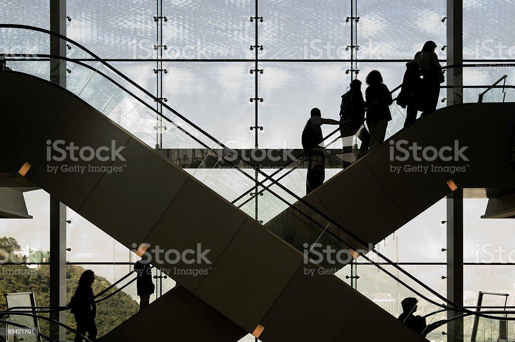 Escalator Silhouette royalty-free stock photo