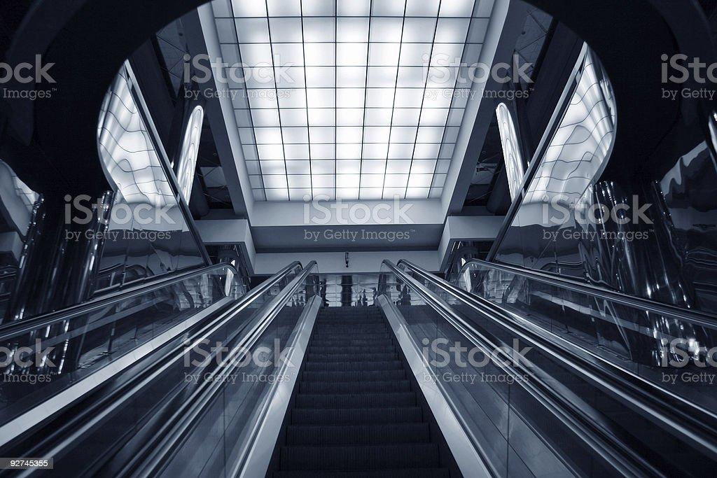 escalator subway royalty-free stock photo