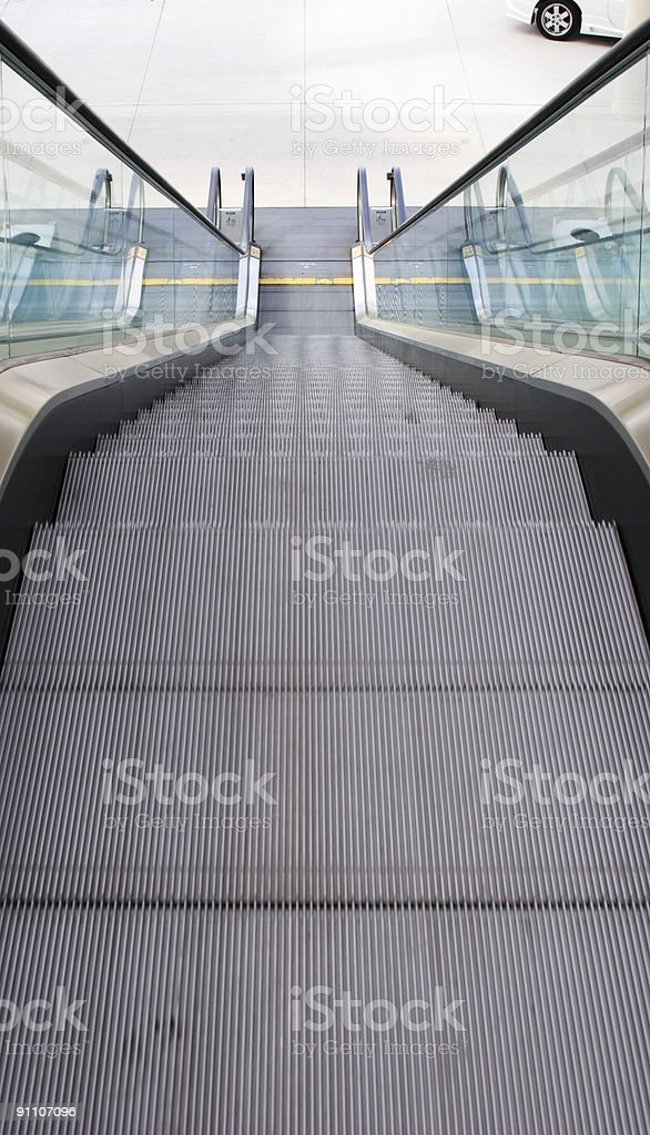 Escalator - top view royalty-free stock photo