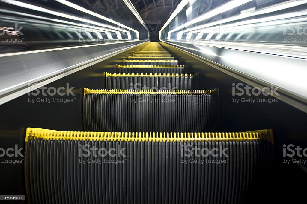Escalator Up Stairway to Heaven royalty-free stock photo