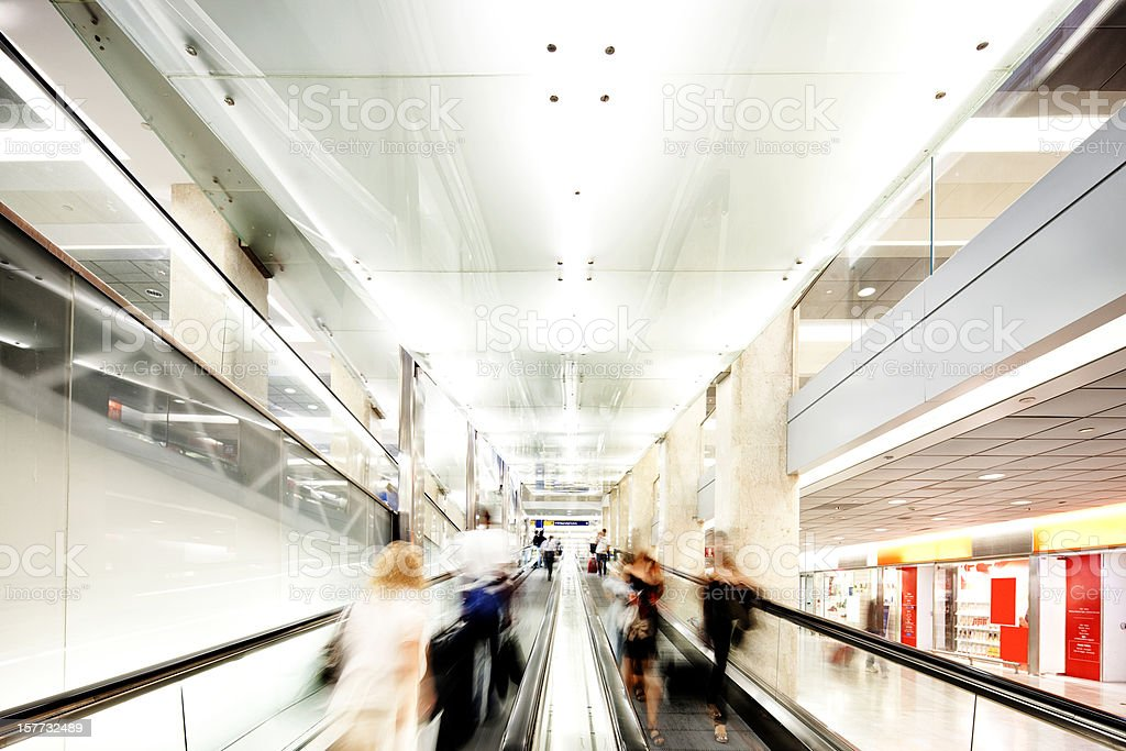 Escalators in a shopping centre royalty-free stock photo