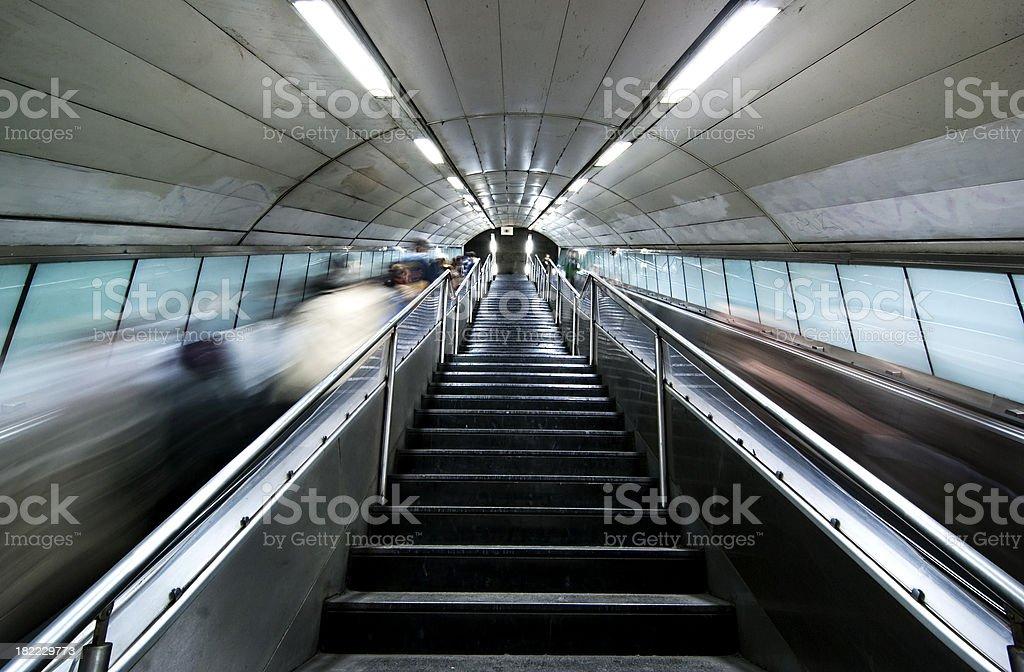 Escalators in the subway. royalty-free stock photo