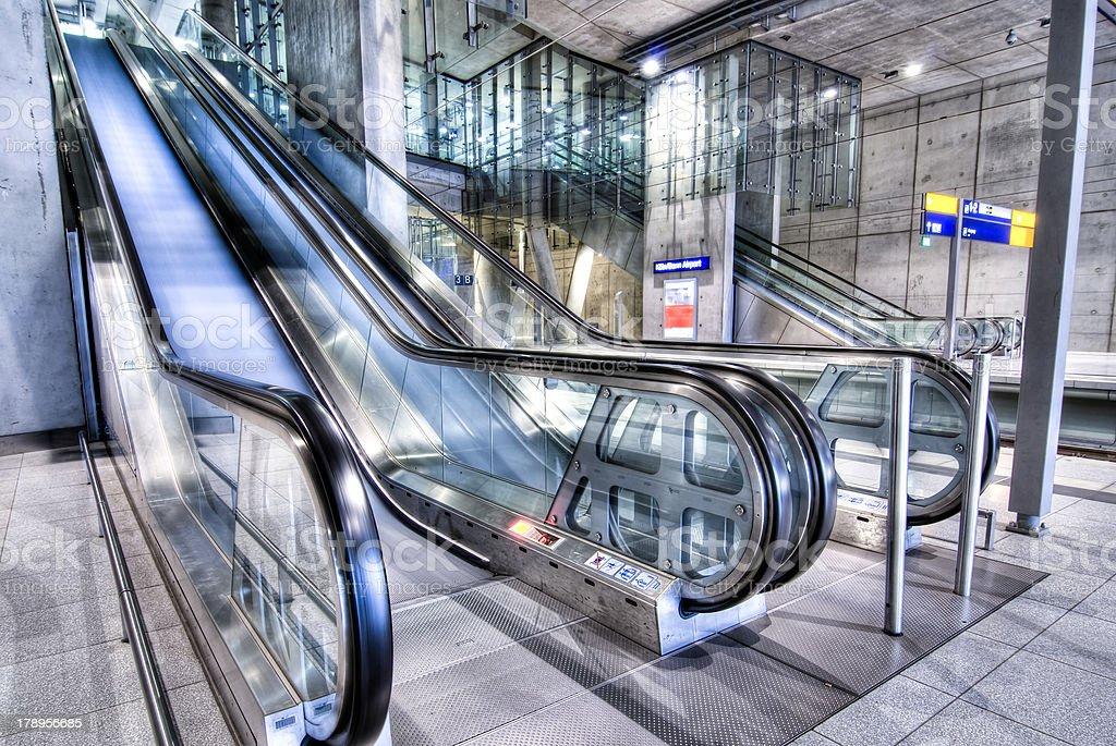 escalators royalty-free stock photo