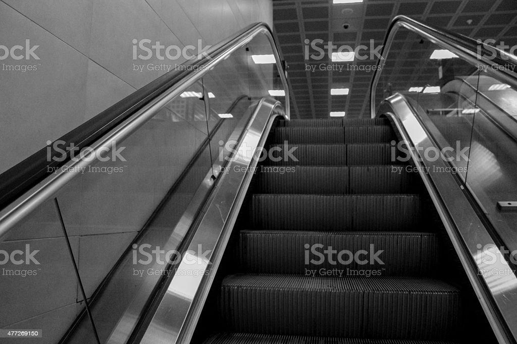 Escalators stock photo