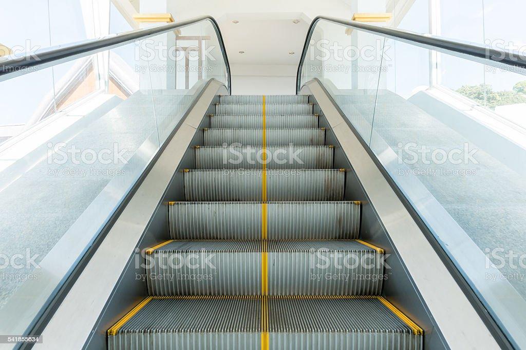 Escalators stairway inside Doi Inthanon National Park stock photo