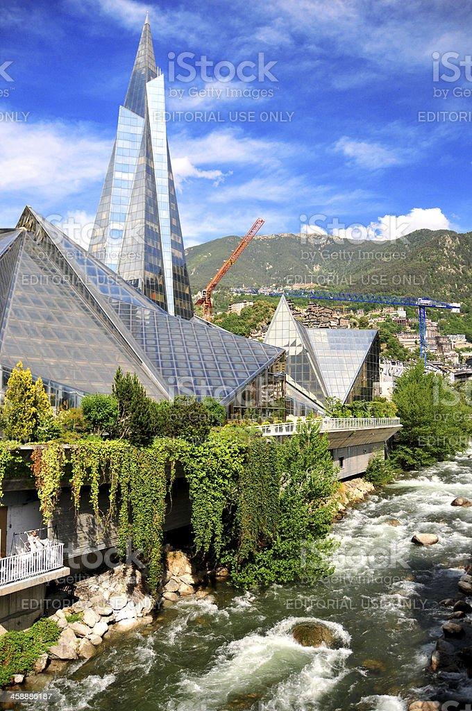 Escaldes-Engordany, Andorra: Caldea thermal spa stock photo