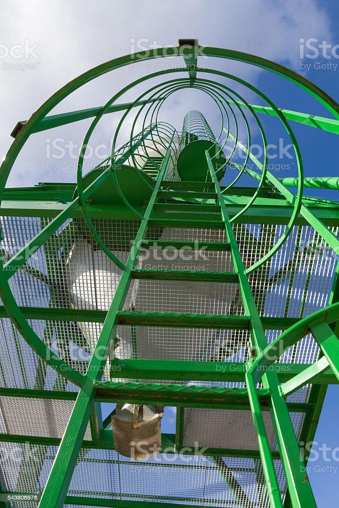 Escalera de Silo, Stairway to Heaven - Silo Ladder stock photo