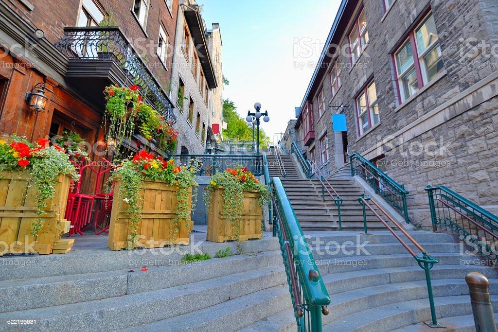 Escalier de la Basse-Ville de Qu?bec stock photo
