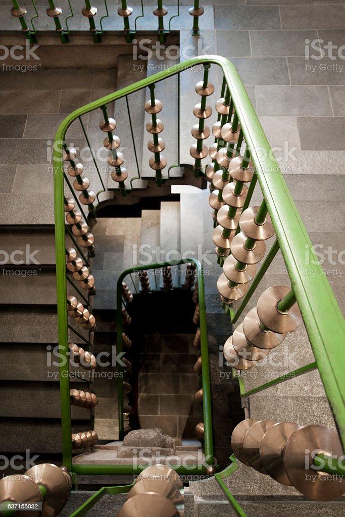 Escalier en colimaçon stock photo