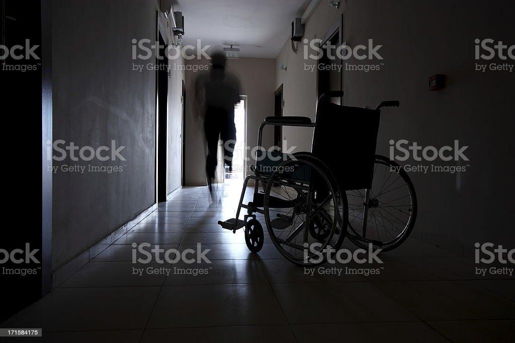 Escape a wheelchair stock photo